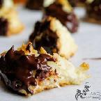 Bittersweet Chocolate-Dipped Orange & Coconut Macaroons
