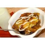 Southern Pecan Bread Pudding with Cream Cheese Icing Drizzle