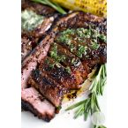 Kalbi Chimichurri or Cross-cut Beef And Garlic Salsa