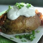 BAKED POTATO WITH SALSA