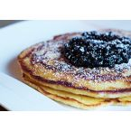Breakfast:  Pancakes with blueberry compote