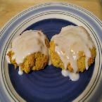 Soft Glazed Pumpkin Cookies