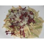 Strozzapreti with Radicchio, Brie and Speck