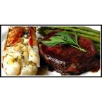 Sandra's Grilled Lobster Tails with Citrus Butter, Fillet Mignon and Asparagus