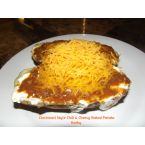 Cincinnati Style Chili & Cheesy Baked Potato