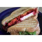 Rainbow Sandwich (beets, carrots, and cabbage)