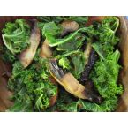 Quick and easy veggie dish Spicy Mushrooms & Kale