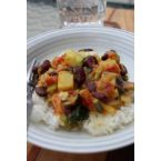 Coconut Curry with Kohlrabi & Red Kidney Beans
