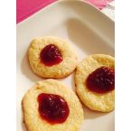 Strawberries jam print cookies