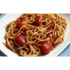Spaghetti w/Strawberries, Tomatoes and Balsamic