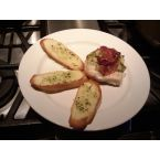 Baked Chicken with Broccoli Salad + Garlic Toast
