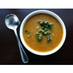 Chickpea, Almond & Kale Soup