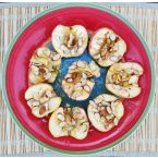 Baked Apples with Honey and Slivered Almonds