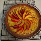 Nectarine And Lemon Custard Tart