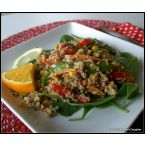 Warm Quinoa and Veggie Salad with Citrus Savannah Vinaigrette