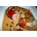 Prosciutto Wrapped Pork Loins In Caper Sauce