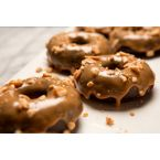 Silvana Nardone and Easy Eats Magazine's Gluten Free Peanut Butter Glazed Chocolate Doughnuts