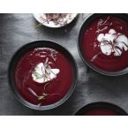 Spiced Beet Ginger Soup with Lime Coconut Cream