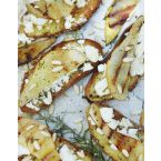 Rosemary and goat cheese crostinis