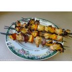 Grilled Chicken and Orange Skewers