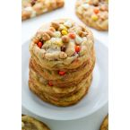 White Chocolate Reese's Pieces Peanut Butter Chip Cookie