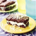 Coconut Brownie Ice Cream Sandwiches