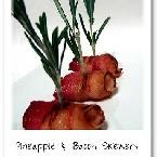 Vanilla Bean - Pineapple & Bacon Wraps with Rosemary Skewers