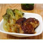 Turkey-Quinoa Meatballs with Baby Bok Choy