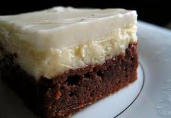 Kahlua Fudge Cheesecake Brownies