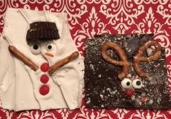 Sue's Melted Snowman & Reindeer Chocolate Bark