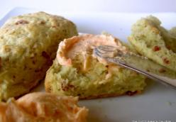 Avocado-Bacon Scones with Smokey Tomato Butter