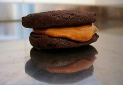 Mexican Chocolate Icebox Cookies with Dulce de Leche