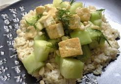 Lemon Cucumber Tofu Salad