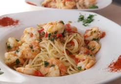 Spaghetti with Lemon Shrimp