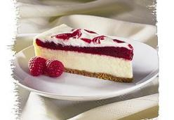Raspberry Ribbon Cheese Cake