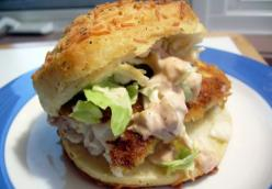 Crunchy Biscuit Fishwiches with Spicy Chile Mayonnaise