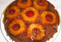 Pineapple Upside-down Cornmeal Cake
