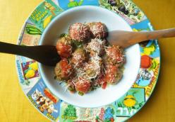 Porcupine Meatballs and Zoodles