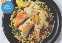Dijon Chicken with Spinach and Lemon Rice