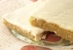 Vegan Iced Amaretto Blondies