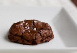 Salted Chocolate-Chocolate Chunk Cookies