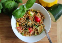 Lentil-Quinoa Salad with Lemon-Basil Dressing