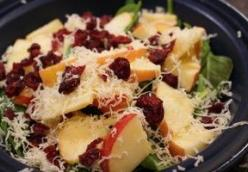 Apple, White Cheddar and Spinach Salad