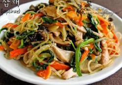 Japchae - Korean Glass Noodle Salad