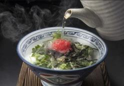 Ume ochazuke (rice soup with Japanese pickled plums)