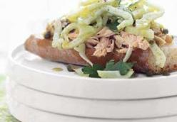 Open-Faced Tuna and Fennel Sandwich