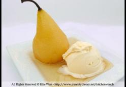 Clove, Ginger & Vanilla Poached Pears