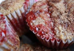 Thrown Together Strawberry Muffins with Strawberry Butter