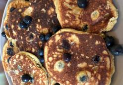 Healthy Silver Dollar Blueberry Pancakes