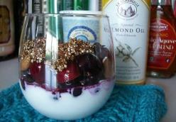Yogurt and Fruit with Quinoa Crunch